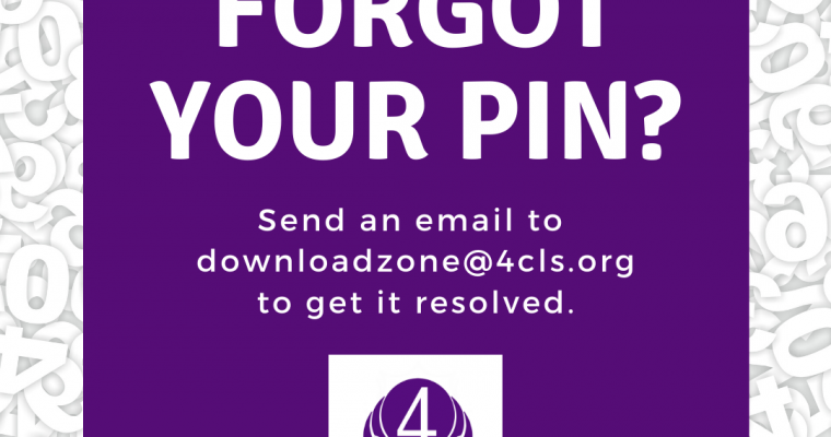 Email is the fastest way to get help with your PIN.