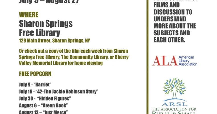 Sharon Springs Summer Film/Book Discussion Series